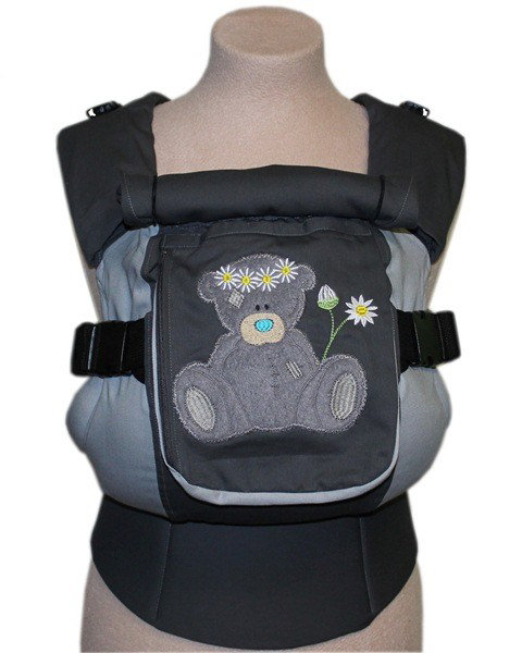Ergonomic baby carrier TeddySling LUX - Camomile with pocket