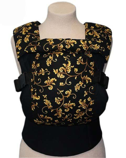 Ergonomic baby carrier TeddySling LUX - Gold Flowers