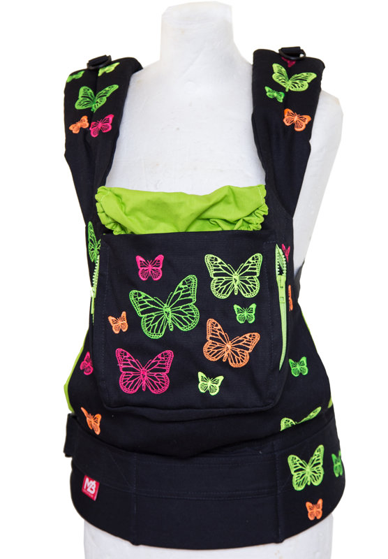 Ergonomic baby carrier Black Butterfly - sling, backpack