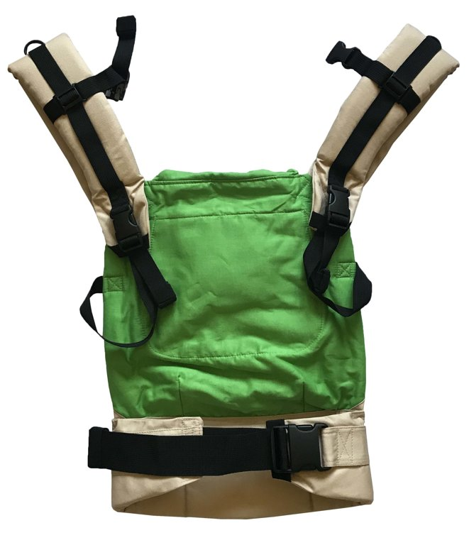 Ergonomic baby carrier Beige Green - sling, backpack