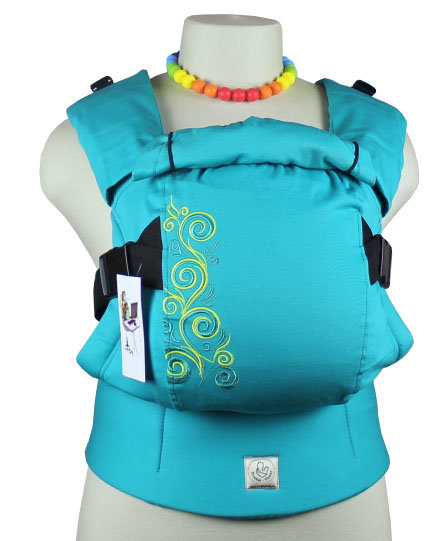 Ergonomic baby carrier TeddySling LUX - Yellow Flowers