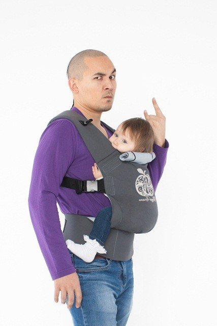 TeddySling Comfort baby carrier - Grey Apple