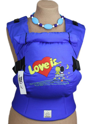 Ergonomic baby carrier TeddySling LUX - Love Is