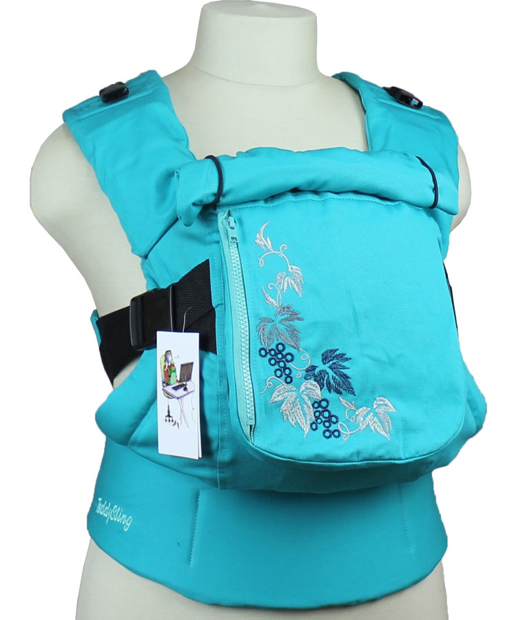 Ergonomic baby carrier TeddySling LUX with pocket - Grapes