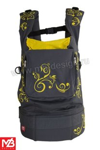 Ergonomic baby carrier Yellow Flowers - sling, backpack