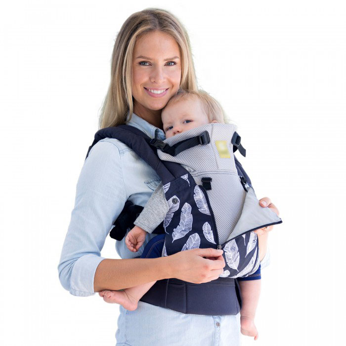 Baby carriers with a mesh on carrier's back