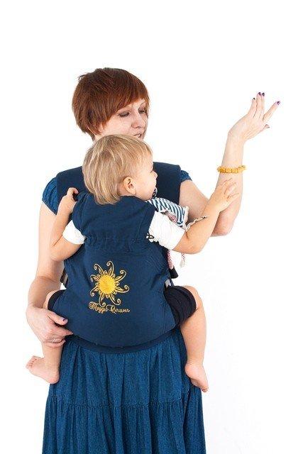 TeddySling Comfort baby carrier - Blue sun