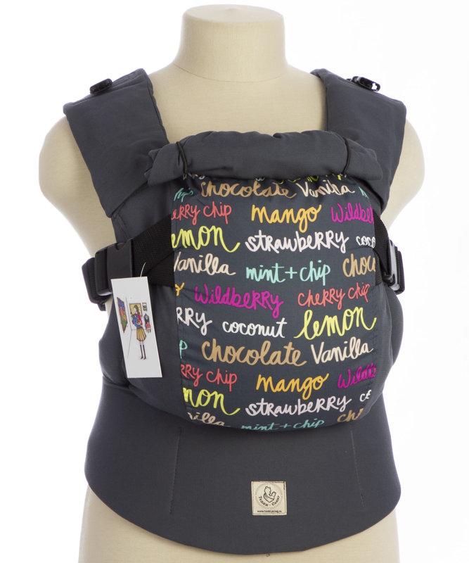 Ergonomiskā soma TeddySling LUX Grey Fun - bērna pārnēsāšanas soma, slings, ergosoma, ergonomiskā ķengursoma