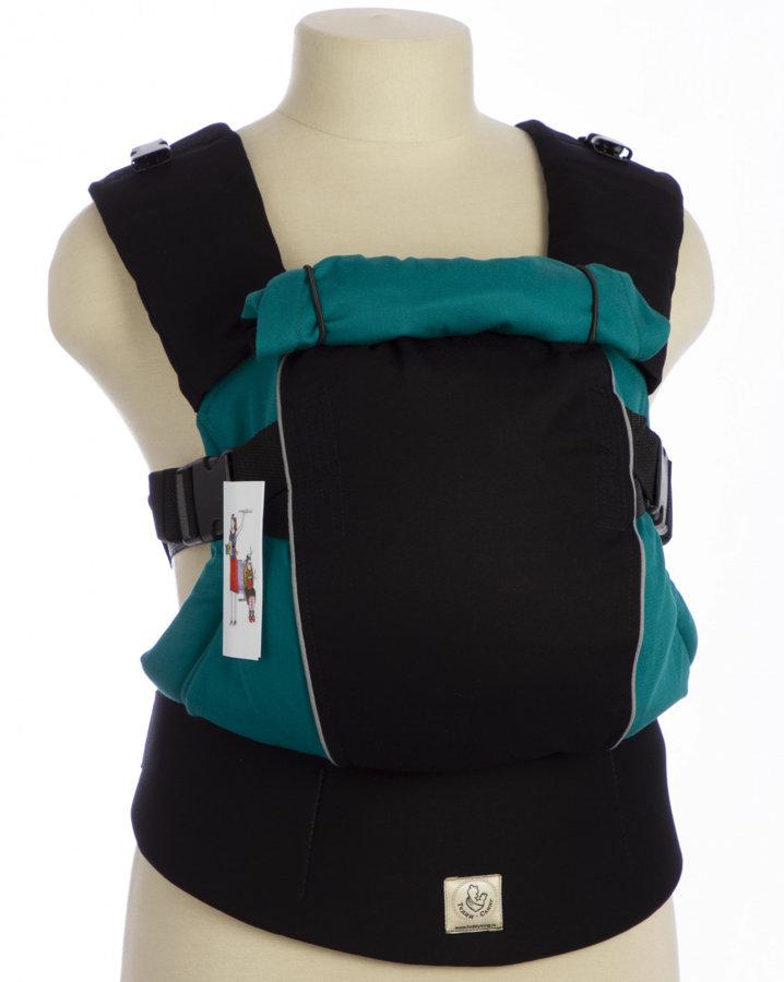Эргономичный рюкзак TeddySling LUX Avrora бирюзовый с отражателями - слинг, эрго-рюкзак, эргономичная сумка кенгуру