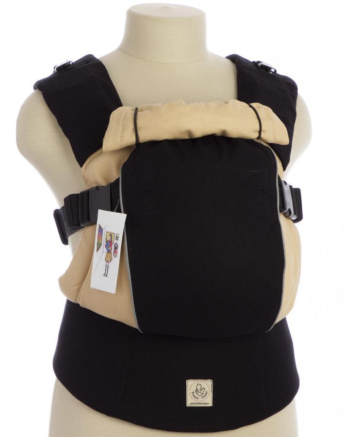 Ergonomiskā soma TeddySling LUX Avrora Beige ar atstarotājiem  - bērna pārnēsāšanas soma, slings, ergosoma, ergonomiskā ķengursoma