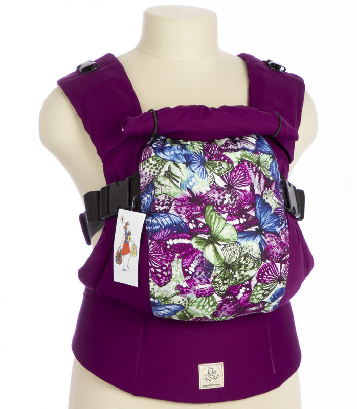 Ergonomic baby carrier TeddySling LUX - Butterflies