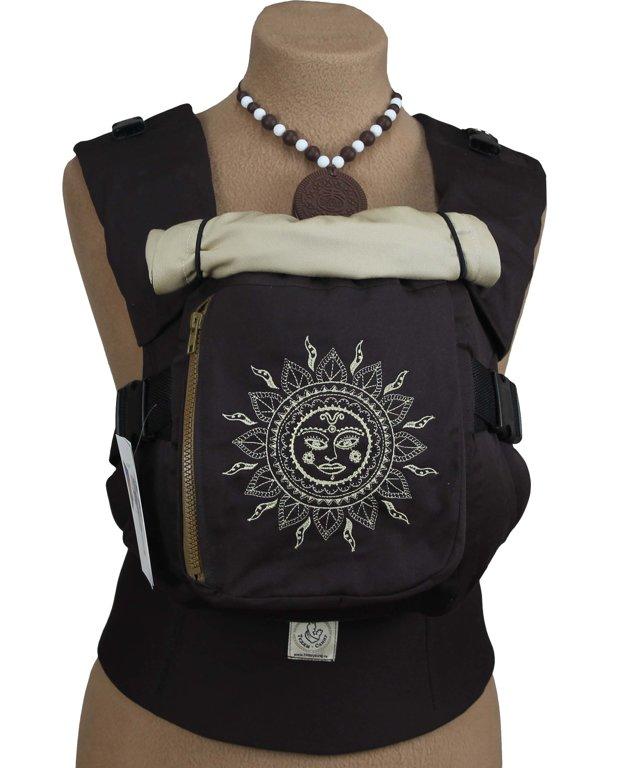 Эргономичный рюкзак TeddySling LUX Ethnic Sun (с карманом) - слинг, эрго-рюкзак, эргономичная сумка кенгуру