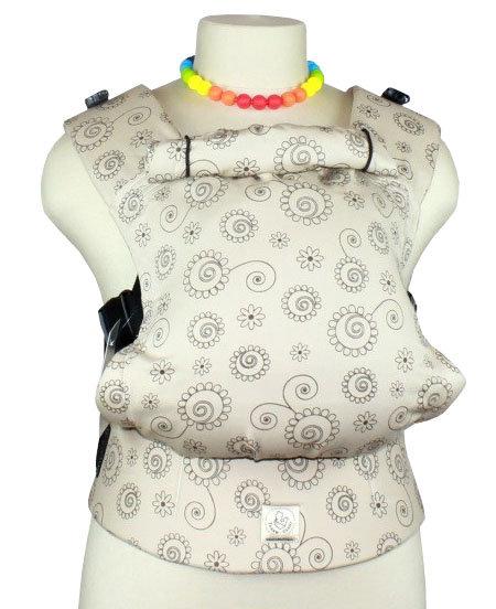Ergonomiskā soma TeddySling - Beige Curls - bērna pārnēsāšanas soma