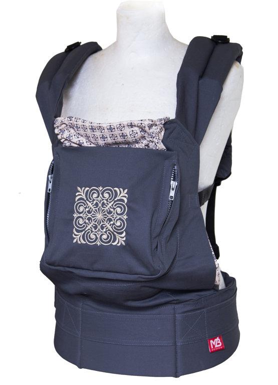 Ergonomiskā soma MB Design - Magic square - bērna pārnēsāšanas soma, slings, ergosoma
