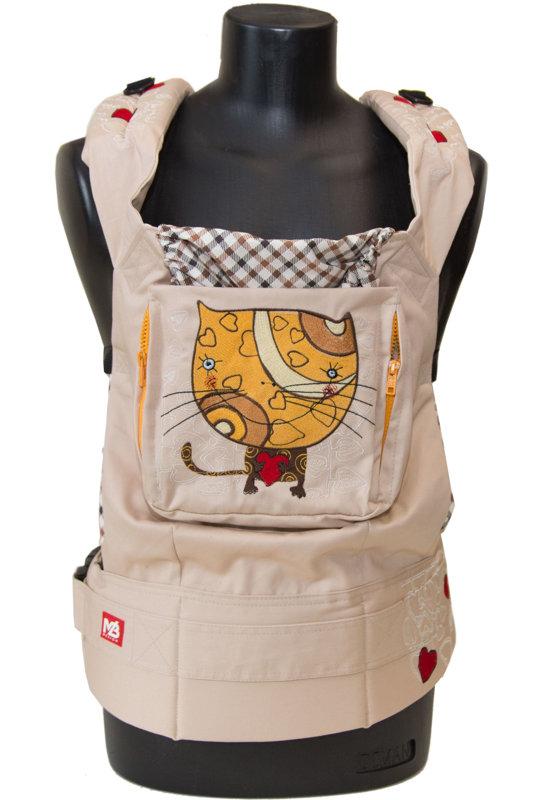 Ergonomiskā soma MB design - Cat - bērna pārnēsāšanas soma, slings, ergosoma