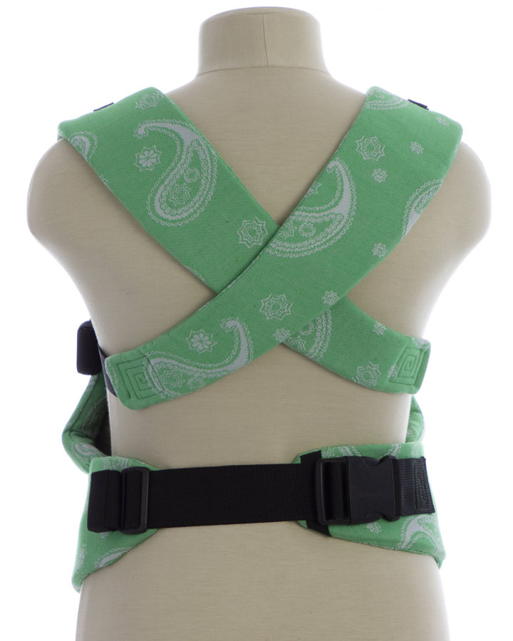 Эргономичный рюкзак TeddySling LUX Bright Green - слинг, эрго-рюкзак, эргономичная сумка кенгуру