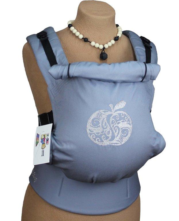 Ergonomiskā soma TeddySling - Light Grey Apple - bērna pārnēsāšanas soma, slings, ergosoma, ergonomiskā ķengursoma
