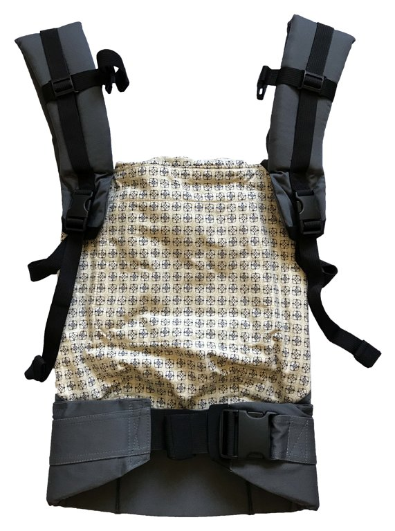 Ergonomic baby carrier Gray Butterfly - sling, backpack