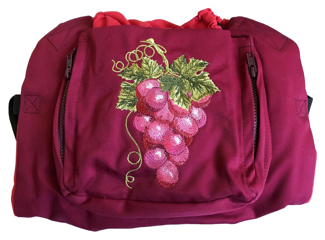 Ergonomiskā soma MB design - Grapes - bērna pārnēsāšanas soma, slings, ergosoma