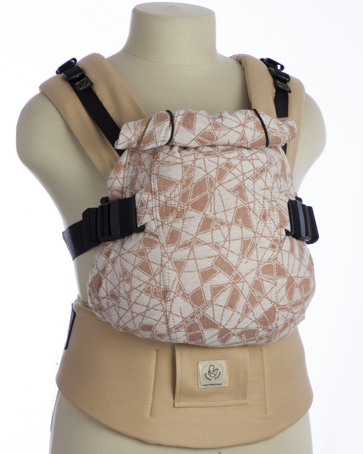 Ergonomiskā soma TeddySling Mini LUX Beige - bērna pārnēsāšanas soma, slings, ergosoma, ergonomiskā ķengursoma