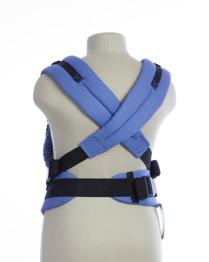 Ergonomiskā Slinga soma TeddySling Mini LUX Blue Wave ar lenču aizsargiem - bērna pārnēsāšanas soma, slings
