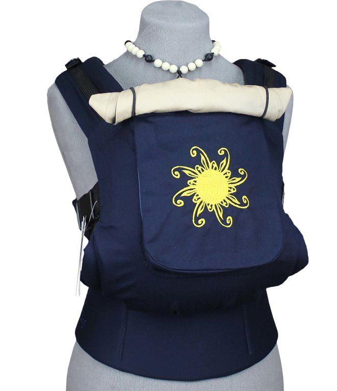 TeddySling Comfort baby carrier with pocket - Blue Sun