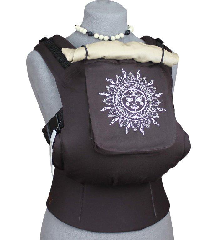 Ergonomiskā soma TeddySling - Ethnic sun (ar kabatu) - bērna pārnēsāšanas soma, slings, ergosoma, ergonomiskā ķengursoma