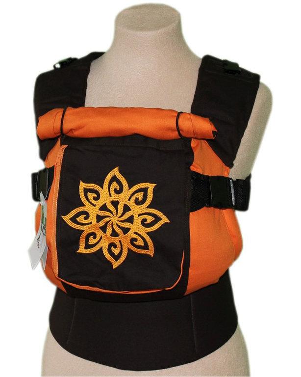 Ergonomiskā soma TeddySling LUX Sun (ar kabatu) - bērna pārnēsāšanas soma, slings, ergosoma, ergonomiskā ķengursoma
