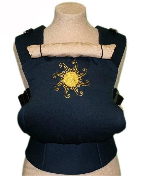 Ergonomiskā soma TeddySling - Blue sun - bērna pārnēsāšanas soma, slings, ergosoma, ergonomiskā ķengursoma