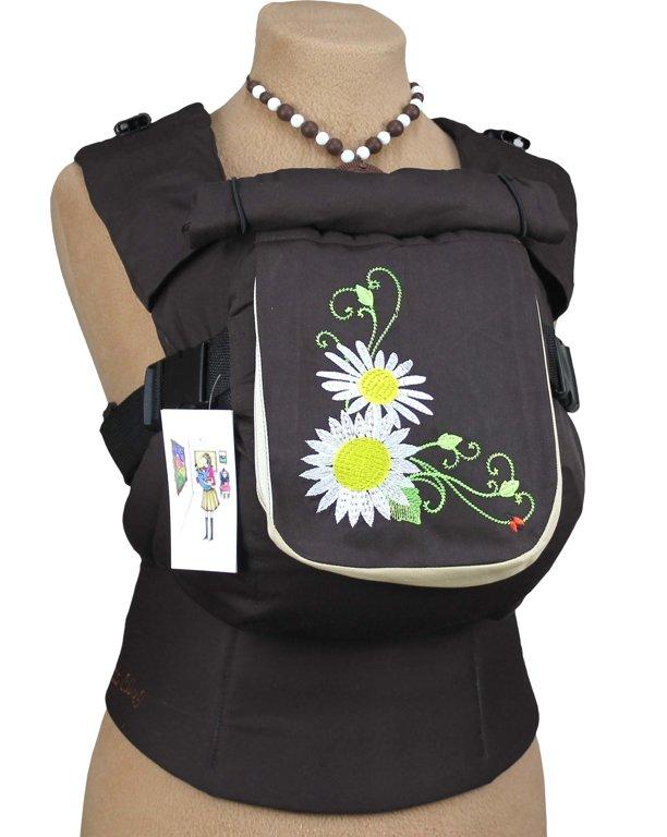 Ergonomiskā soma TeddySling LUX Daisy (ar kabatu) - bērna pārnēsāšanas soma, slings, ergosoma, ergonomiskā ķengursoma