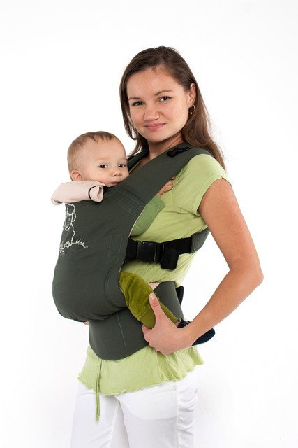 TeddySling Comfort baby carrier - Green Sheep
