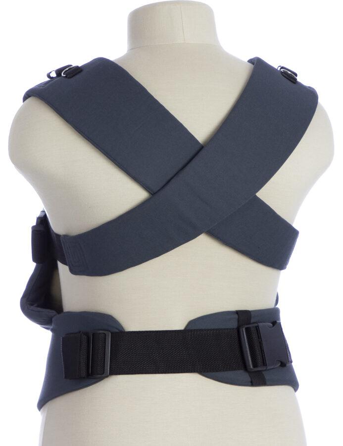 Ergonomiskā soma TeddySling - Grey Leaf (ar kabatu) - bērna pārnēsāšanas soma, slings, ergosoma, ergonomiskā ķengursoma