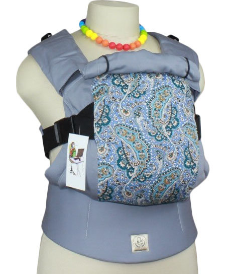 Ergonomic baby carrier TeddySling LUX - Grey Cucumbers