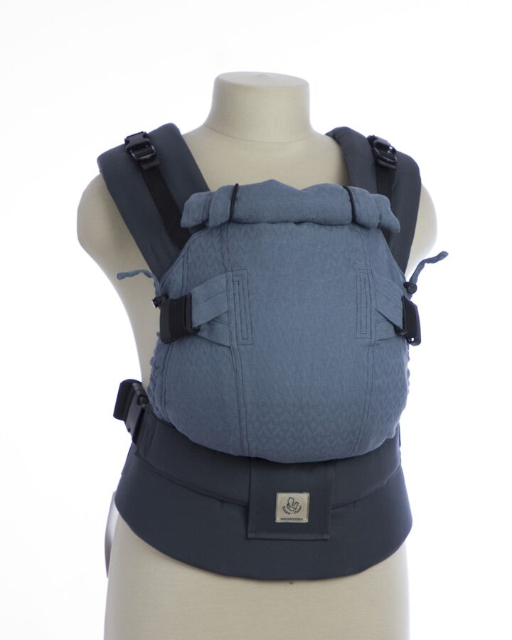 Ergonomiskā soma TeddySling Mini LUX Grey - bērna pārnēsāšanas soma, slings, ergosoma, ergonomiskā ķengursoma