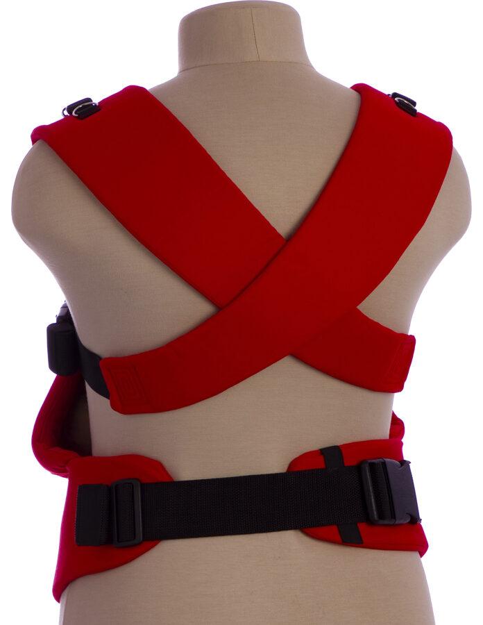 Ergonomiskā soma TeddySling LUX Red Heart  - bērna pārnēsāšanas soma, slings, ergosoma, ergonomiskā ķengursoma