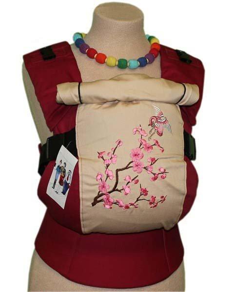 Ergonomiskā soma TeddySling LUX Sakura - bērna pārnēsāšanas soma, slings, ergosoma, ergonomiskā ķengursoma