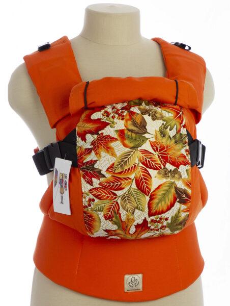 Ergonomiskā soma TeddySling LUX Autumn Leaves - bērna pārnēsāšanas soma, slings, ergosoma, ergonomiskā ķengursoma