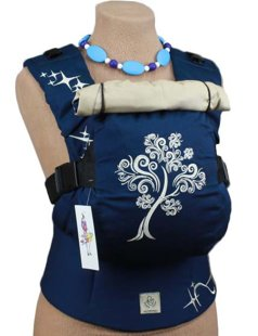 Эргономичный рюкзак TeddySling LUX Navy Tree (с карманом) - слинг, эрго-рюкзак, эргономичная сумка кенгуру