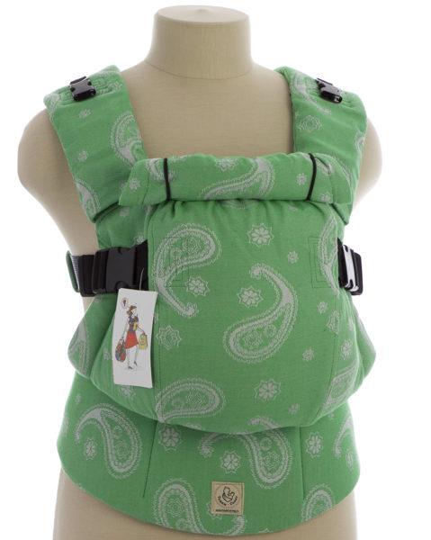 Ergonomiskā soma TeddySling LUX Bright Green - bērna pārnēsāšanas soma, slings, ergosoma, ergonomiskā ķengursoma
