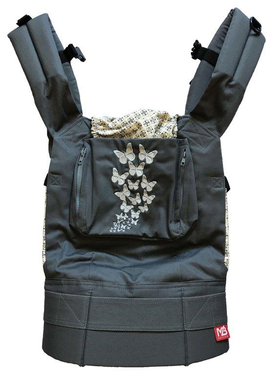 Эрго рюкзак слинг Gray Butterfly с накладками на лямки