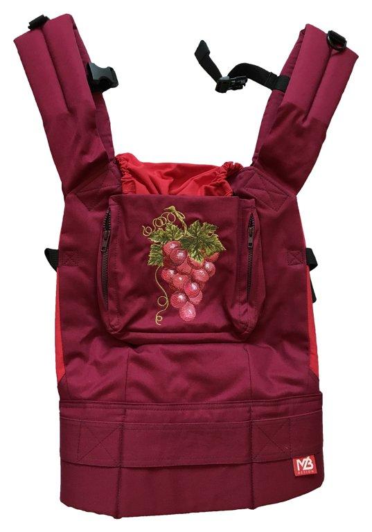 Эрго рюкзак слинг Red Grape с накладками на лямки