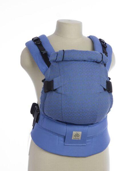 Эргорюкзак рюкзак Синг TeddySling Mini LUX Blue Wave с накладками на лямки - слинг, эрго-рюкзак, эргономичная сумка кенгуру