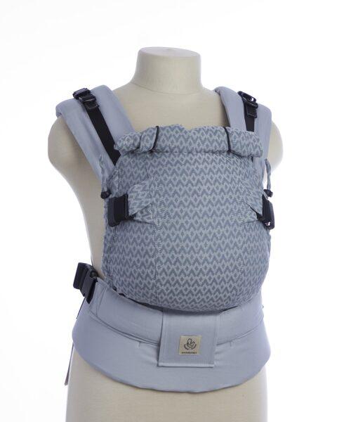 Ergonomiskā soma TeddySling Mini LUX Light grey - bērna pārnēsāšanas soma, slings, ergosoma, ergonomiskā ķengursoma