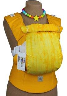 Ergonomiskā soma TeddySling LUX Yellow - bērna pārnēsāšanas soma, slings, ergosoma, ergonomiskā ķengursoma