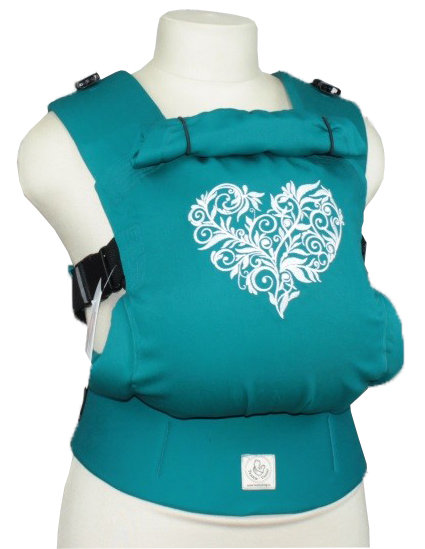 TeddySling Comfort baby carrier - Turquoise heart