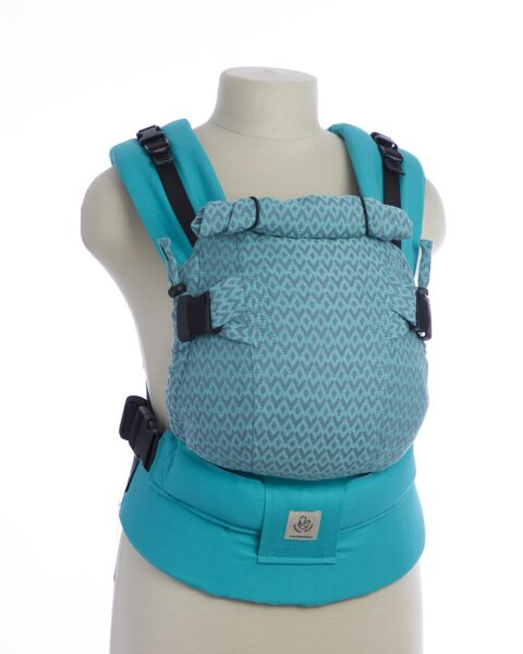 Ergonomiskā soma TeddySling Mini LUX Light Blue - bērna pārnēsāšanas soma, slings, ergosoma, ergonomiskā ķengursoma