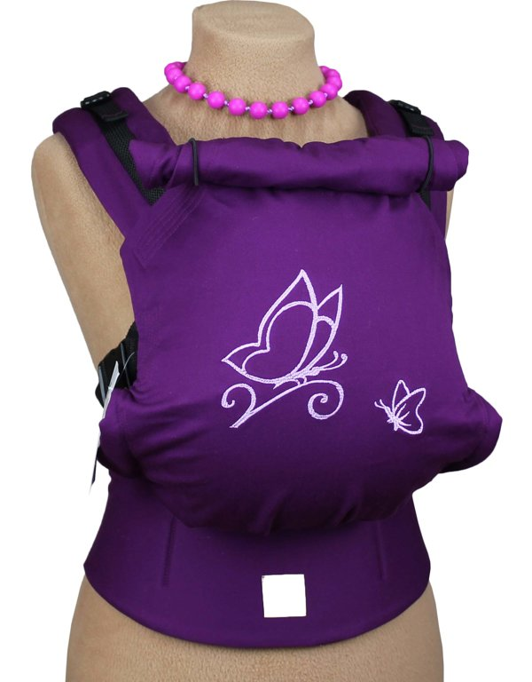 Ergonomiskā soma TeddySling - Purple - bērna pārnēsāšanas soma, slings, ergosoma, ergonomiskā ķengursoma
